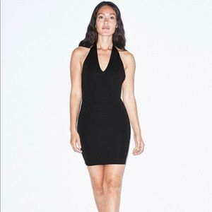 American Apparel Ponte Halter Dress